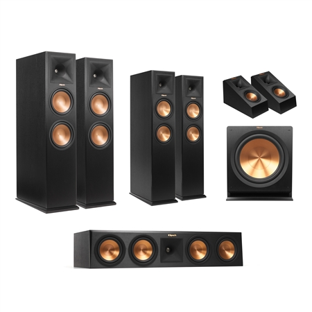 klipsch rp 280 5 1 4 dolby atmos system home theater packages seattle bellevue bothell. Black Bedroom Furniture Sets. Home Design Ideas